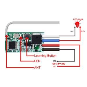 Image 2 - Rubrum Interruptor de Control remoto inalámbrico Universal, 433 Mhz, CC, 3,6 V 24V, 433 Mhz, 1 CH, receptor de relé RF, Kit de Controlador de luz LED