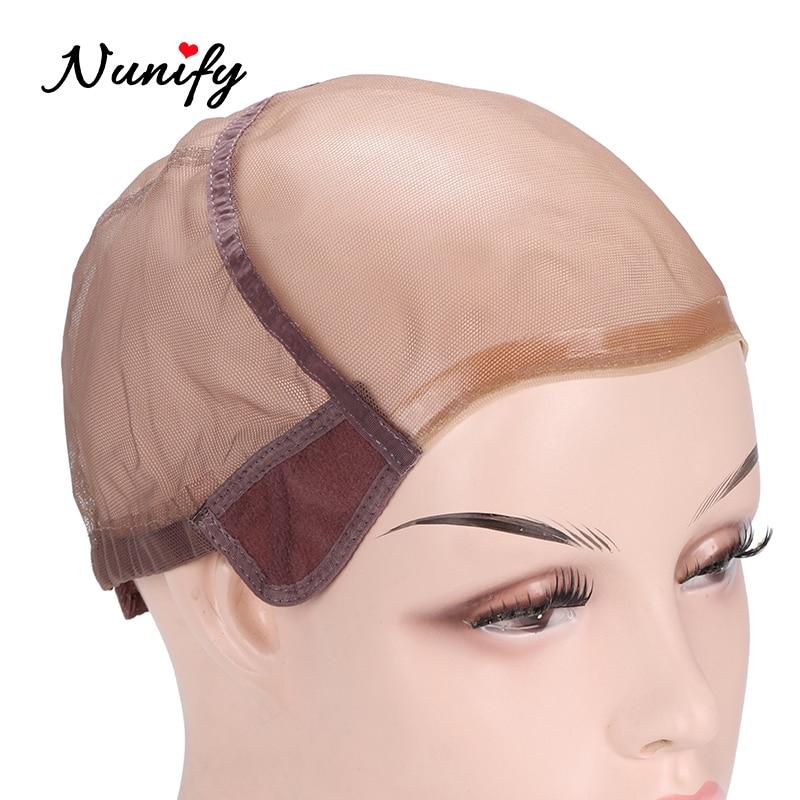 Breathable Hair Cap For Making Full Lace Wig Caps, Transparent Wig Cap For Black Womem, U Part  Adjustable Elastic Wig Caps