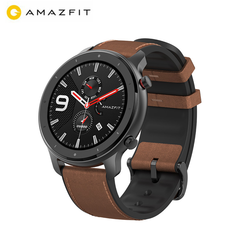 AMAZFIT Smartwatch Battery Heart-Rate 47mm Bluetooth Waterproof 5ATM Monitor Silicon-Strap