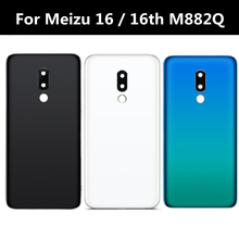 Back Battery Cover Housing Door Lid Rear Case For Meizu 16 16th M882Q Battery Cvoer with Camera Frame Glass Lens