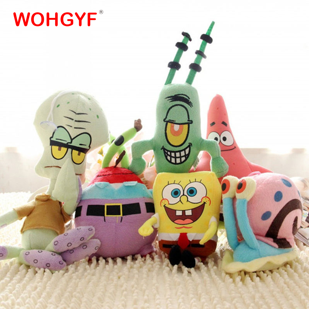 Image 2 - 1pc Cute SpongeBob plush toys SpongeBob/Patrick Star/Squidward Tentacles/Eugene/Sheldon/Gary stuffed doll Toys for Kids Girls-in Stuffed & Plush Animals from Toys & Hobbies