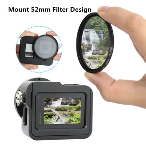 Image 3 - Marco protector para cámara GoPro Hero 8, carcasa de aleación de aluminio con diseño de montaje en tres direcciones, multiángulo, accesorios para cámara negra