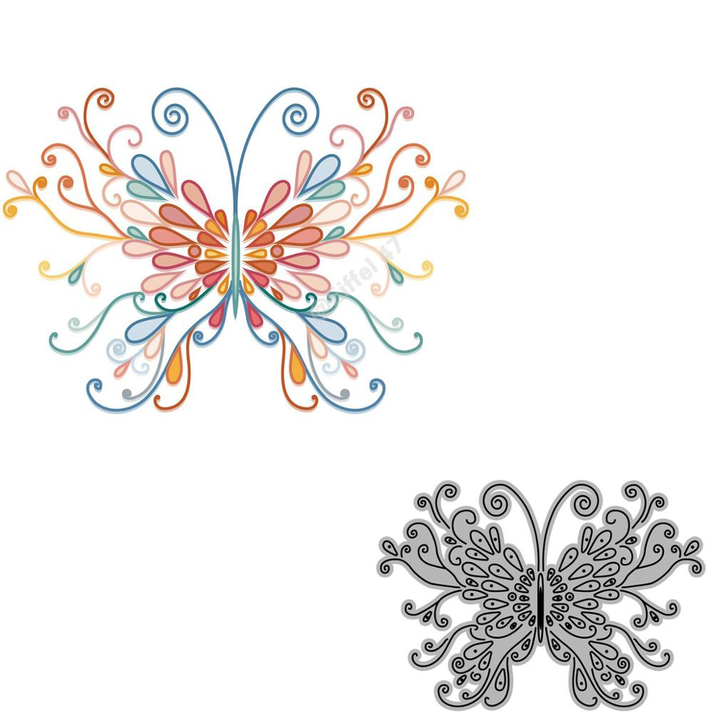 Colorful Butterfly Scrapbooking Metal Cutting Dies Alinacrafts Stamps And Craft Dies For Paper Card Making New 2020