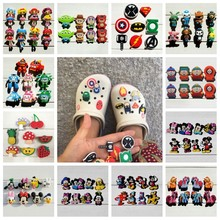 Free Shipping Mixed 6-22PCS PVC Shoe Charms,Shoe Buckles Accessories Fit Bands Bracelets Croc JIBZ,Kids Party Gifts/Toys free shipping 22pcs lot max7219cwg