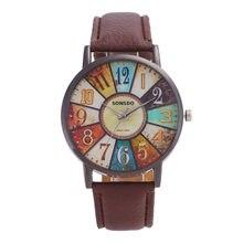 Montre Pour Femme Décontracté Dames Simili Cuir Mâle Femelle Quartz Hommes Montres Analogique Montre-Bracelet Dames Filles Horloge Heure Reloj Cadeaux