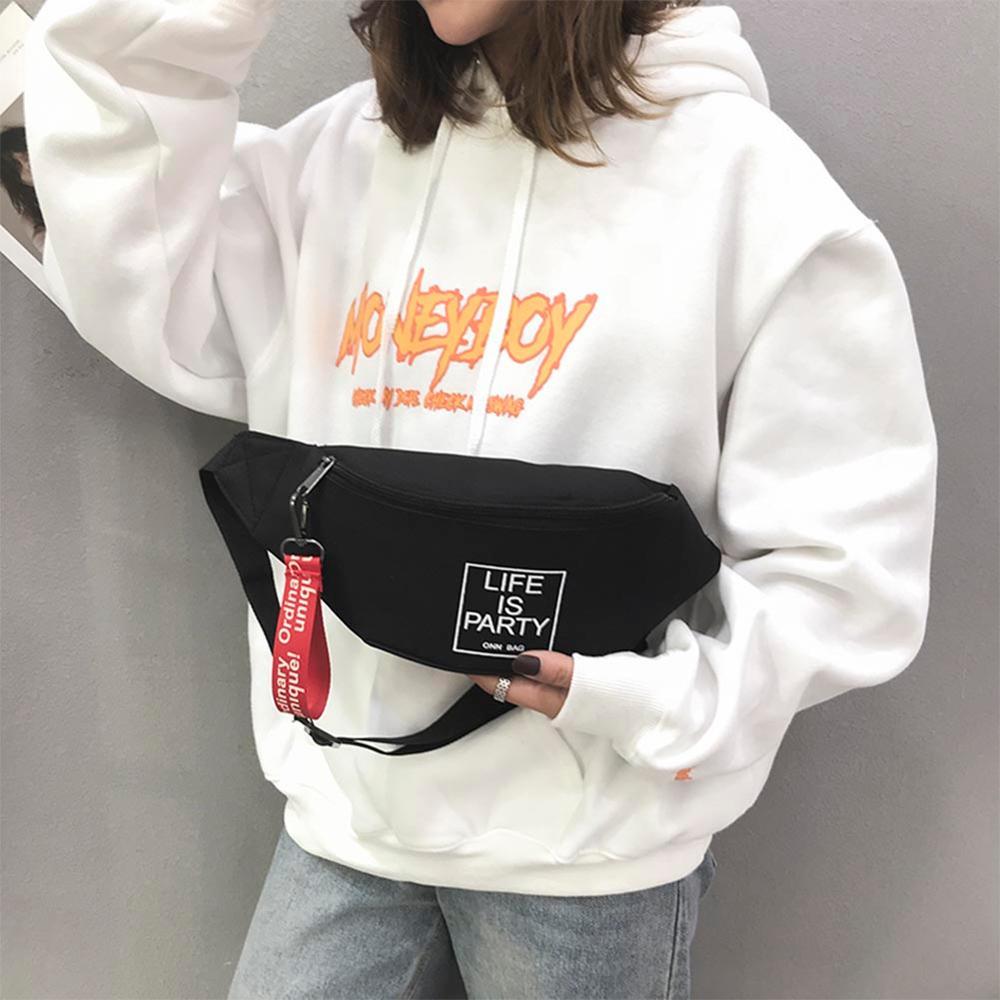 Unisex Sports Canvas Waist Bag Fanny Casual Chest Packs For Women Men Portable Travel Shoulder Crossbody Bags Bolsas Feminina