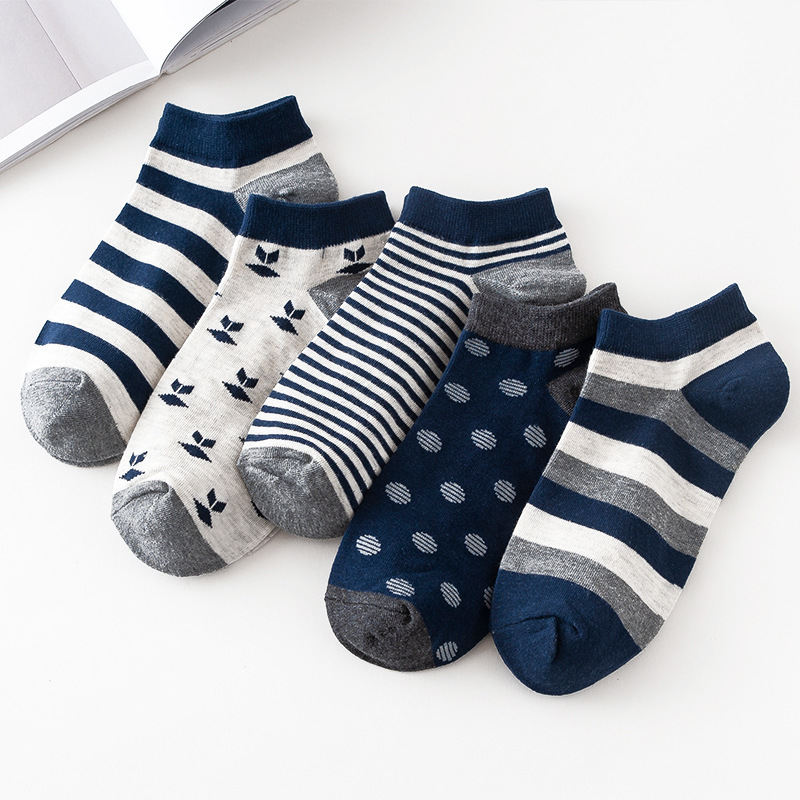 Men's Socks Summer And Autumn Low Top Low-Cut No-show Socks Pure Cotton Navy Style Casual MEN'S Socks Zhuji Socks