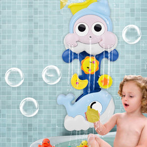 Baby Toys Water Spray Snail Whale Bath Toy for Toddlers Newborns Games Squirting Sprinkler Bathroom Baby Bath Shower Kids Toys(China)