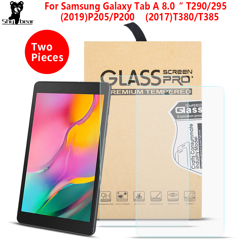 2PCS/Lot Tempered Glass For Samsung Galaxy Tab A 8.0 SM-T290 T295 P200 P205 Screen Protector Film For T380 T385 Tablet Glass