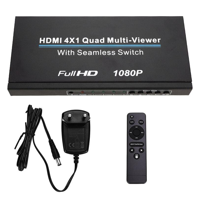 Divisor de tela hdmi quatro em um com switcher sem emenda hd vídeo 1080p suporta cinco modos de ps3/pc/stb/dvd