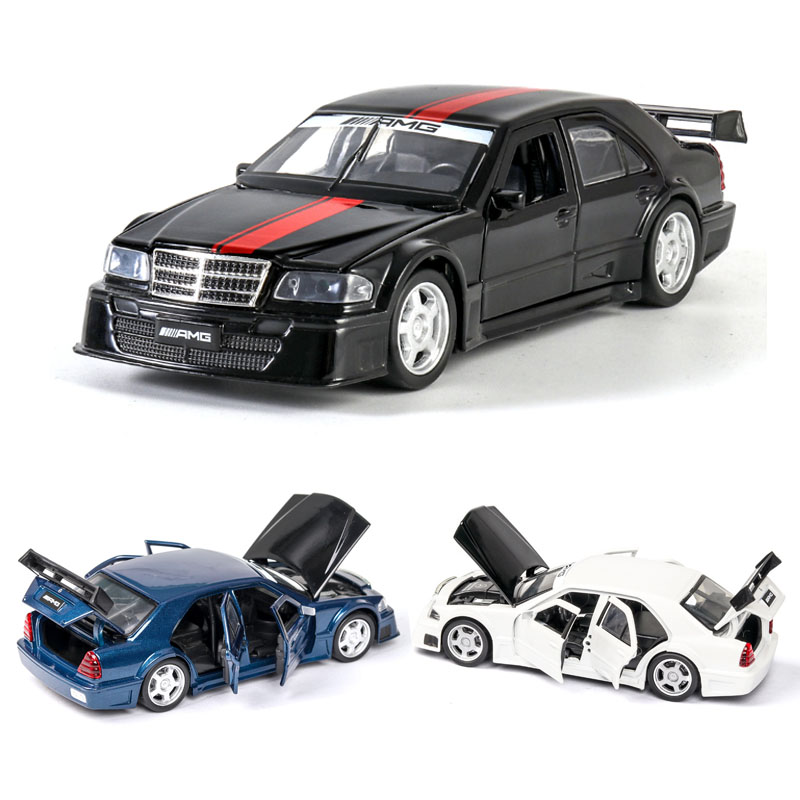 1:32 Mercedes Benz W201 AMG Car Model Alloy Car Die-cast Toy Car Model Sound And Light Children's Toy Collectibles Free Shipping