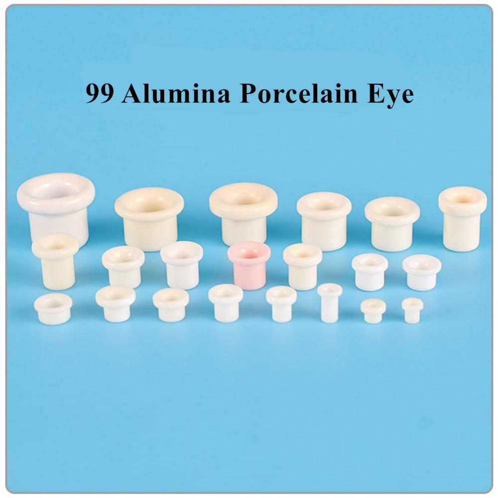 99 Porcelain Eye Textile Machine Parts Alumina Guide Wire Porcelain Eye Ceramic Eyelet Porcelain Bead