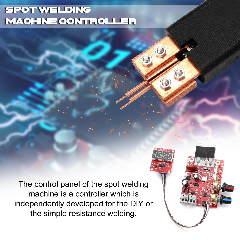 D01Digital NY 100A Board 9V Metal Welding Display Battery Transformer With Spot Set Machine Pen Pedal  Spotwelding Control Foot