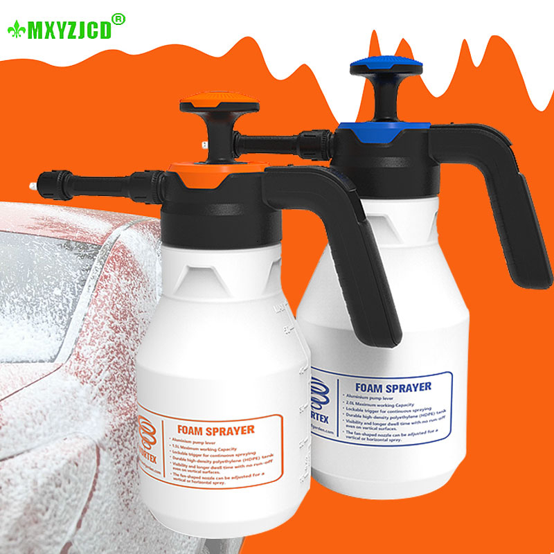 2L Plastic Foam Watering Can Pressure Type Small-scale Sprayer Car Cleaning High Pressure Watering Can Window Cleaning Tool-0