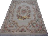 양모 프랑스 카펫 손으로 짠 두꺼운 봉제 인 Savonnerie Rug carpet 주문 제작 510-129 5.5x8