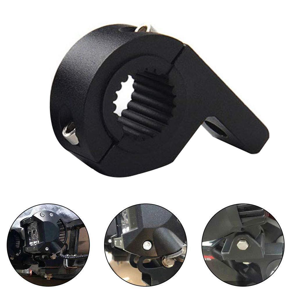 Motorcycle LED Headlight Clamps Brackets Tube Clamp Mount Kit Spotlights/Fog Light Mount For 7/8 Inch Diameter Handlebars