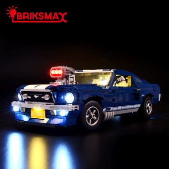 BriksMax Led Lighting Kit For 10265 Creator Series Ford Mustang Light Set (NOT Include The Model) image