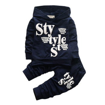 Baby Clothes For Boys Alphabet Long Sleeve Top Pants 2-Piece Set Autumn Sweater Suit Children's Clothing Apparel Outfit 2