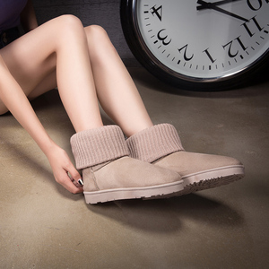 Image 4 - FEVRAL נשים מגפי אישה להתחמם עם פרווה חיצוני שלג מגפי אופנה נסיעות קצר קטיפה נעליים יומיומיות אישה זמש קרסול מגפיים