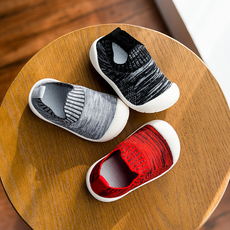 2019 Spring Infant Toddler Shoes Soft Bottom Boys Girls Casual Shoes High Quality Comfortable Children's Stretch Knit Shoes