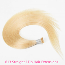 Brazilian 613 Straight Microlinks Human Hair Extensions For Women I Tip Virgin Hair Extension Bulk Natural Black Color