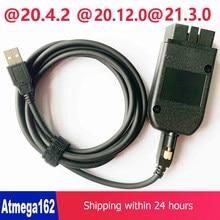 2021 popolar hex v2 obd2 scanner vagcom 20.4.2 vag com 20.12 para vw audi skoda assento atmega162 + 16v8 ft232rq