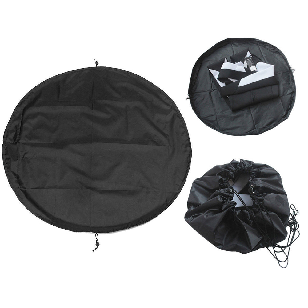 Polyester Water Sports Pouch Surfing Wetsuit Mat Carry Pack Waterproof Portable Change Bag Diving Suit Black Storage