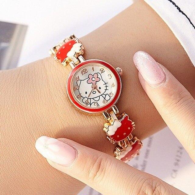 2019 nova reloj crianças relógios para meninas dos desenhos animados adorável pulseira estudante menina relógio de quartzo presente aniversário alta qualidade 5