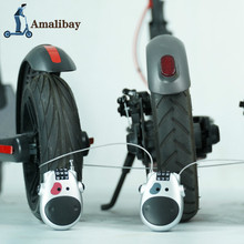Mini Anti-Theft Wire Password Scooter Lockf or Xiaomi Mijia M365 / 365 Pro Ninebot MAX G30 Electric Scooter M365 Wheel Lock scooter front suspension fork for xiaomi mijia m365 mi m365 pro electric scooter for max g30 front tube shock absorption parts