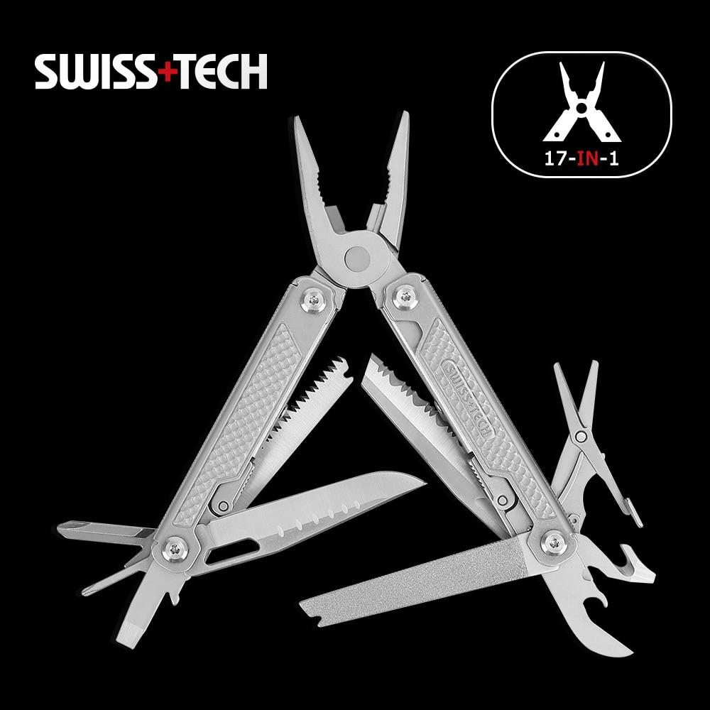 Складные плоскогубцы швейцарские технологии 17 в 1, плоскогубцы для зачистки проводов, многофункциональный инструмент для кемпинга на откры...