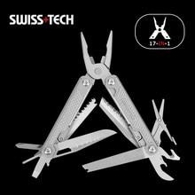 Swiss tech 17 em 1 multi alicate dobrável alicate fio stripper de acampamento ao ar livre multitool bolso mini portátil nova chegada alicates