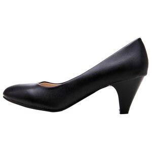 Image 3 - YALNN Zapatos De Mujer chaussures à talons hauts blanc Spike 3/5/7cm talons bout pointu chaussures femme escarpins fête chaussures De mariée grande taille