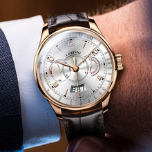 أفضل العلامة التجارية سويسرا LOBINNI الرجال الساعات ساعة يابانية 9122 التلقائي الميكانيكية MOVT الرجال الياقوت relogio masculino L16051 5