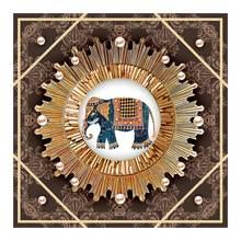 mandala pattern design Diamond Painting animal Elephant Round Full Drill Mosaic 5D Embroidery DIY Cross Stitch home decor gifts