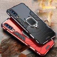 Custodia 4 in 1 per Samsung Galaxy A70 A50 custodia armatura PC Cover TPU Rim anello per dito supporto per telefono custodia per Samsung A50 A 70 Cover