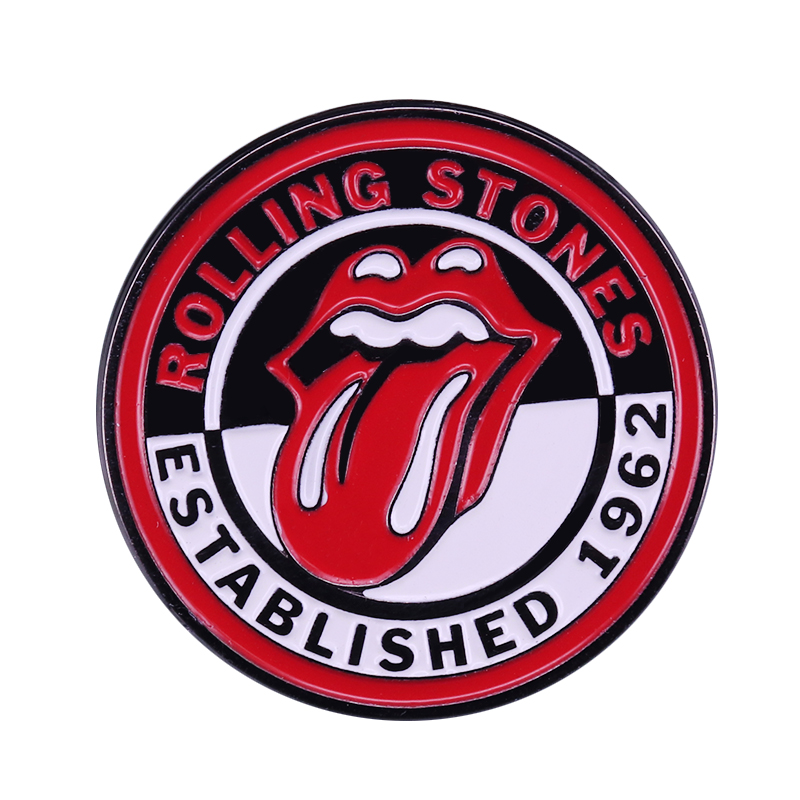 Rolling Stones Enamel Pin Perfect Rock And Roll Fans Collection