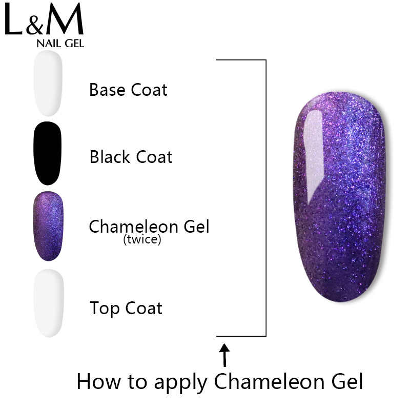 Ibdgel 15 Ml Bunglon Magic Nail Gel Lacquer Rendam Off Uv Gel Bersinar Warna Gel Lacquer Perlu Hitam Warna Dasar kuku Gel Manikur