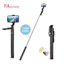 FANGTUOSI 1490mm 2021 NEW Wireless Selfie Stick Tripod Extendable Monopod With Bluetooth Shutter For Smartphone