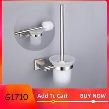 GAPPO banyo tuvalet fırçası tutucuları paslanmaz çelik duvara monte tek fırça cam bardak tutucular banyo donanım aksesuarları