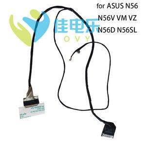 40 pins Computer Cables For ASUS N56V N56D N56 VM SL VZ JR FHD & HD LCD LVDS cable 14005 01140100 00280500 DDNJ8GLC100 Good Qty