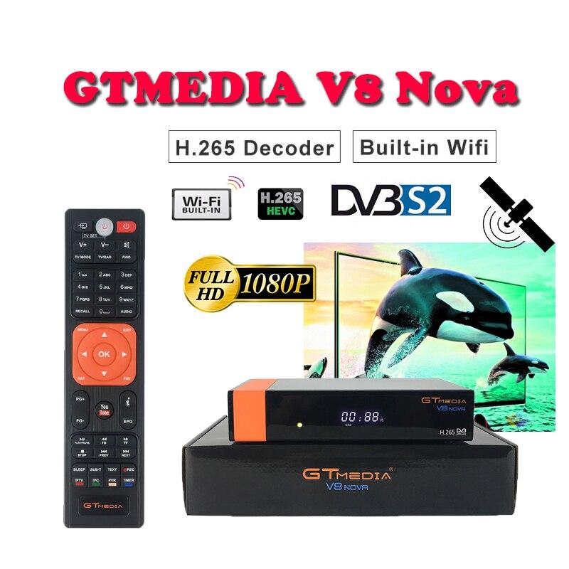Récepteur Satellite pour le brésil DVB-S2 GTMediaV8 Nova freesat WIFI H.265 prise en charge cccam cline espagne youtube décodeur Satellite