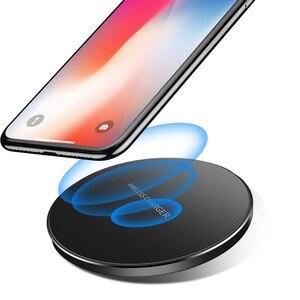 Image 2 - Bezprzewodowa ładowarka Qi 10W QC 3.0 telefon szybka stabilna ładowarka dla iPhone Samsung Xiaomi Huawei itp bezprzewodowa ładowarka USB Pad PK AUKEY
