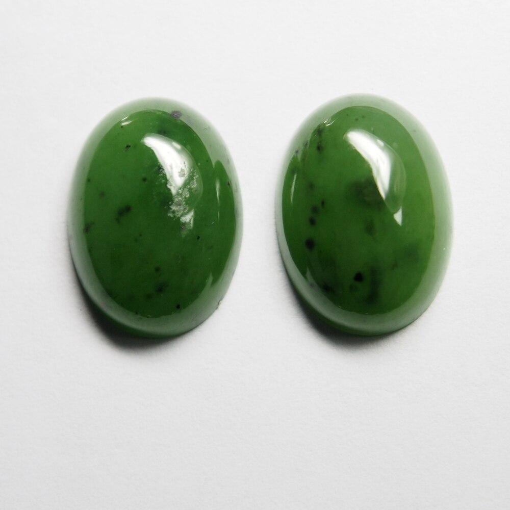 2PCS /alot Oval 18*13mm 10 carats flatback cabochon loose gemstone natural Green jade Russian jasper stone for ring