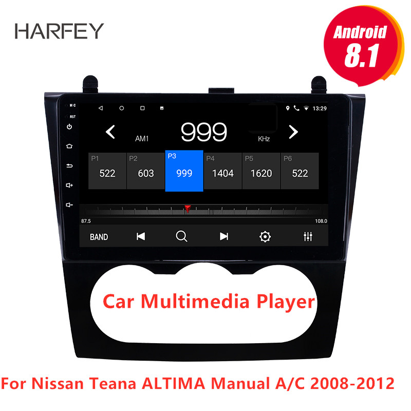 Harfey Android 8 1 Multimedia Player with GPS Nav Radio 9 for Nissan Teana ALTIMA Manual