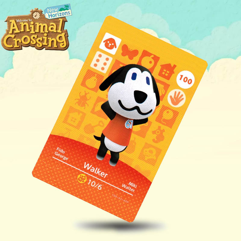 100 Walker  Animal Crossing Card Amiibo Cards Work For Switch NS 3DS Games