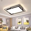 Светодиодный современный потолочный светильник с дистанционным управлением для гостиной  спальни  креативного освещения  прямоугольного ...