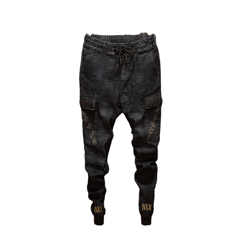 2019 Men New Fashion Style Harem Pant Brand Men Pants Hip Hop Harem Joggers Pants Male Black Trouser