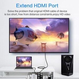 Image 2 - Extensión HDMI de 3 pies, 1080p, Cable de extensión HDMI macho a hembra, Hdmi para conector TV HD, LCD, portátil, proyector, PS4/3, extensor HDMI