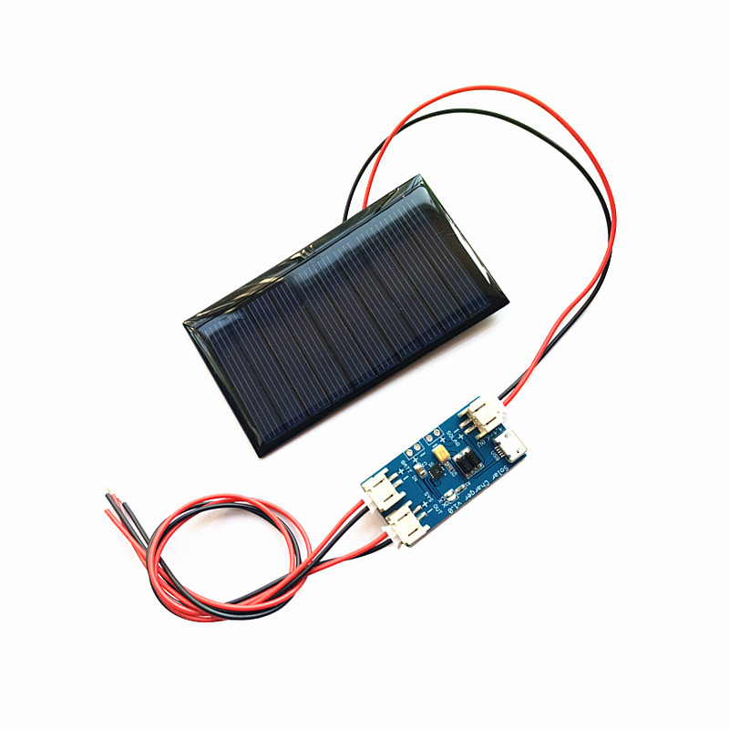 1pc Mini Mono 80*45MM Solar Panel 5V 75MA for Mini solar panel charging and generating electricity with Mini solar lipo charger(China)