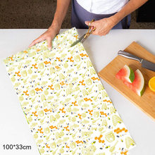 Newly Beeswax Food Wrap Reusable Food Bee Wax Wrap for Sandwich Cheese Fruit Preservation Cloth(China)